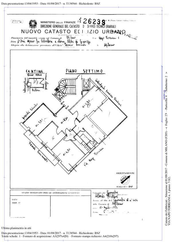 Planimetria catastale rasterizzata 7 90 iva inclusa in 1 for Come fare una planimetria online