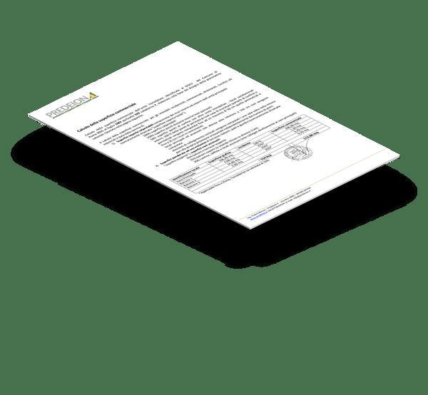 relazione calcolo superficie commerciale da planimetria catastale sviluppo mq relazione