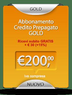 abbonamento prepagato visure online gold